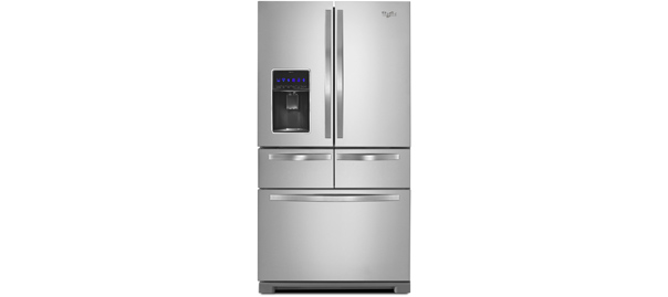 Whirlpool 26 Cu Ft Double Drawer French Door Refrigerator