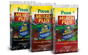 how to use preen with mulch