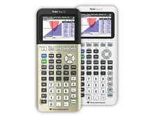 "Texas Instruments adds two new limited-edition colors to the TI-84 Plus CE graphing calculator line-up, ""Golden Ratio and ""Bright White,"" just in time for the back-to-school shopping season. (PRNewsFoto/Texas Instruments)"