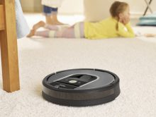 iRobot Roomba 960 Vacuuming Robot helps keep floors cleaner throughout the entire home with intelligent visual navigation, iRobot HOME App control, and 5x the air power over previous generation Roomba vacuum cleaners. (PRNewsFoto/iRobot Corp.)