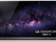 LG Electronics introduced a new 77-inch SIGNATURE OLED TV. (PRNewsFoto/LG Electronics USA)