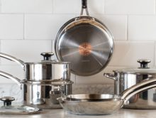 REVERE(R) Copper Confidence Core(TM) Stainless Steel Cookware 10 Piece Set (PRNewsFoto/World Kitchen, LLC)